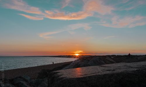 Sunset over Milford On Sea