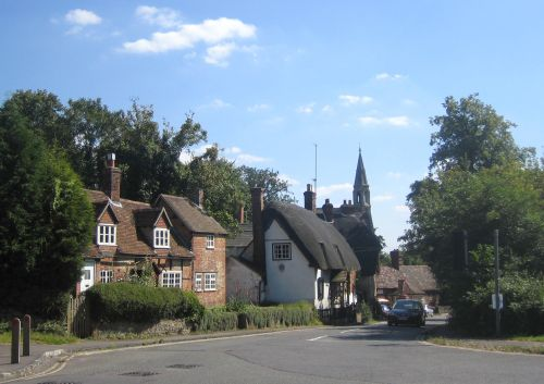 High Street and the Church of St. Michael and All Angels, Clifton Hampden