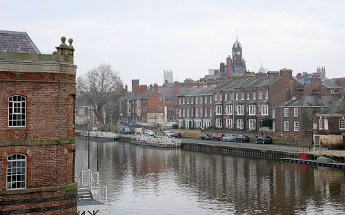 A view of the River Ouse from Bishopgate Street, York