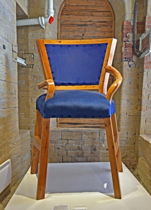 David Hockney's Chair at Salts Mill exhibition