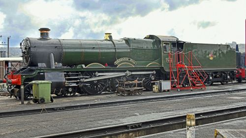 Steam locomotive 7903 at Toddington Works