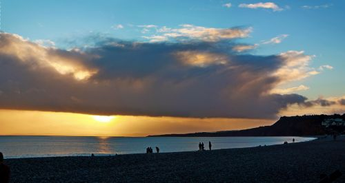 One of Budleigh's sunsetting