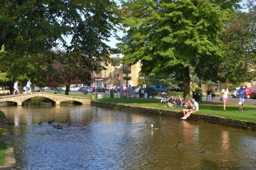 View Along the Windrush in Bourton on the Water