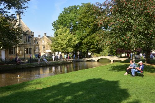 The Victoria Street Bridge Over the Windrush at Bourton on the Water