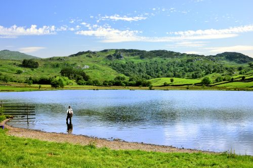 Fishing at Watendlath Tarn
