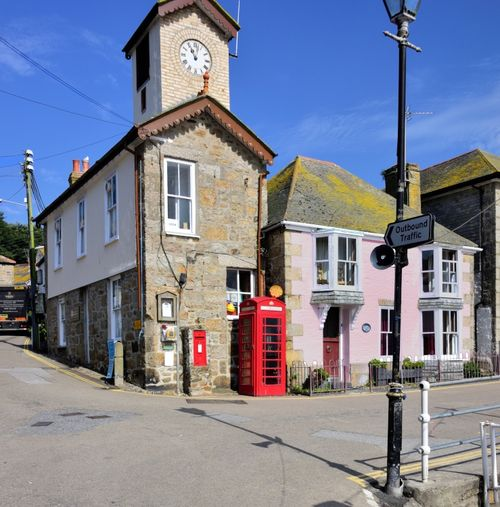 The Harbourmaster's Office & Deb's Pink Cottage on the Mousehole Quayside