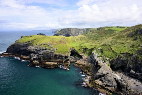Barras Head & the North Cornwall Coast Viewed from Tintagel Castle