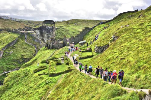 Steep Paths & Stairs Everywhere at Tintagel Castle