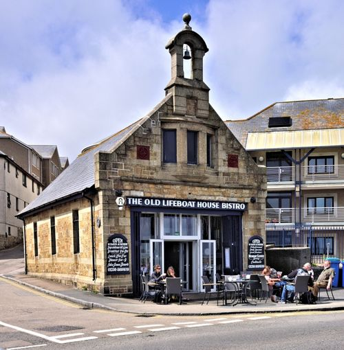 The Old Lifeboat House Bistro on Wharfe Road, Penzance
