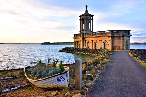 Normanton Church View with Boat