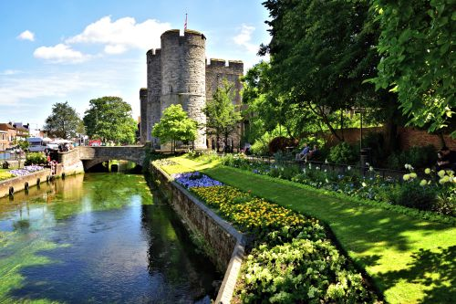 Westgate Towers and Gardens by the Great Stour