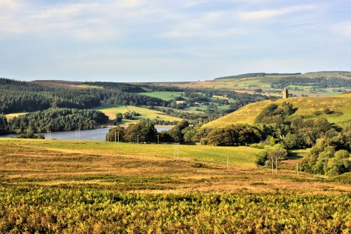 Strines Reservoir at the Head of Bradfield Dale, with Boot's Folly on the Right