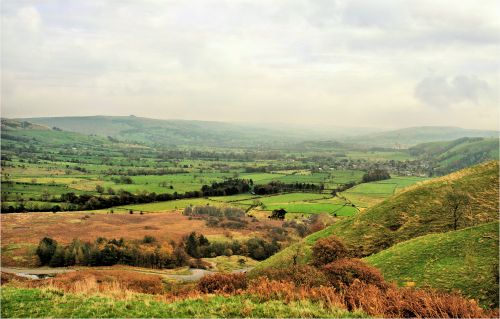 Hope Valley View from Castleton in Autumn