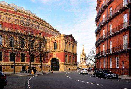The Royal Albert Hall, Memorial and Mews on Kensington Gore