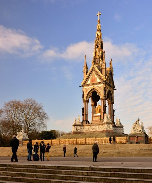 The Albert Memorial in Evening Light