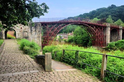 The Ironbridge Ove the River Severn in Shropshire