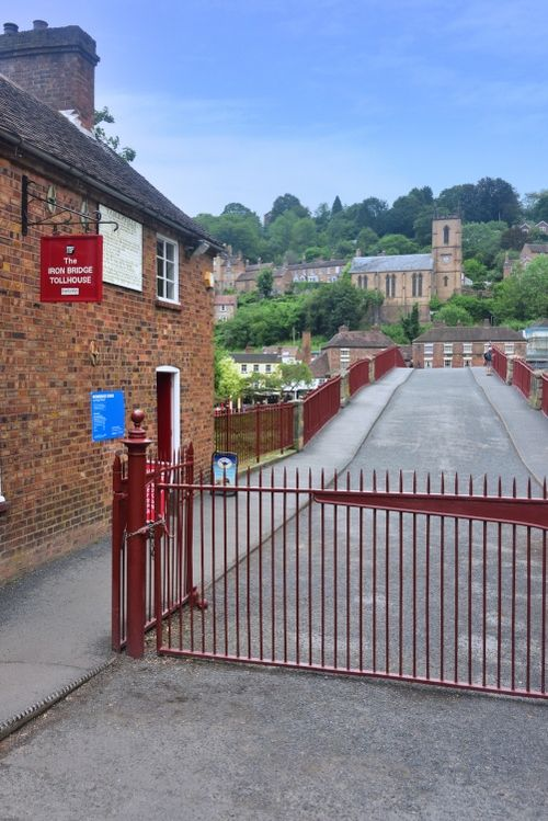 The Road Across the Ironbridge is Pedestrians Only