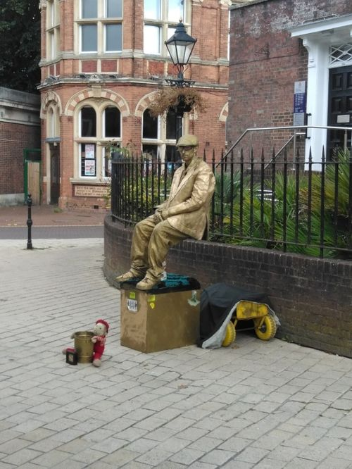Robotic man in Poole High Street