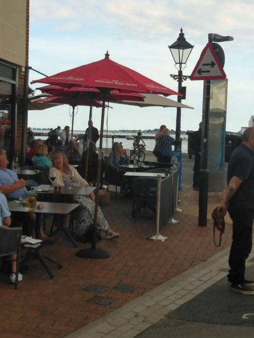 Cafe culture at Poole Quay