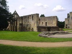 The Abbey Ruins at the town of Battle in Sussex