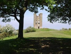 A picture of Broadway Tower and Animal Park Wallpaper