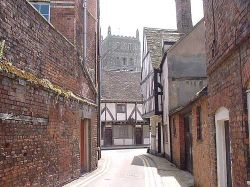 A street in Tewkesbury