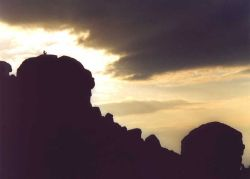 A picture of Cow and Calf Rocks