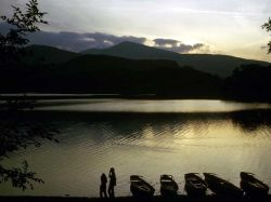 A view across Derwent Water, Keswick. - The photo was taken in September of 1973