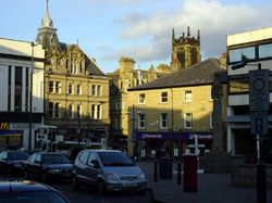 The center of Huddersfield, Yorkshire