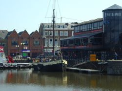 The Audrey moored in Hull Marina