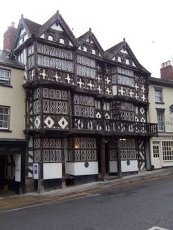 The Feathers Hotel in The Bullring, built in 1619.