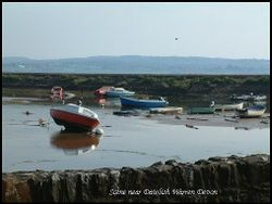 Tranquil scene of boats quarter mile from Dawlish warren