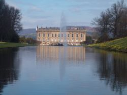 Chatworth House from garden