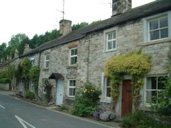Row of terraced houses - Ashford in the Water, Derbyshire