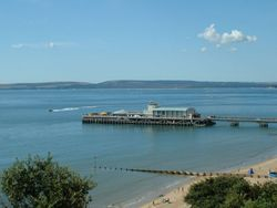Bournemouth Pier in summer