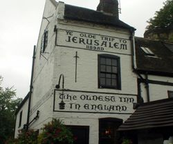 Nottingham. Ye Olde Trip to Jerusalem, the Oldest Pub in England