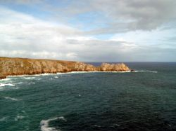 Logan Rock and Porthcurno Bay