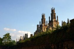 Oxford. All Souls College, from New College Lane, early evening