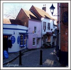 A small street in Lymington, Hampshire