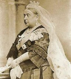 A picture of Queen Victoria