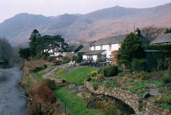 Tea room at Grange in Borrowdale, Cumbria