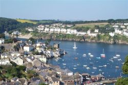The ancient fishing villages of Polruan, in South East Cornwall