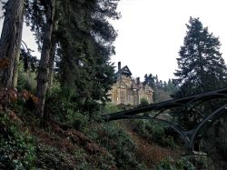 Cragside, Northumberland: House and Bridge
