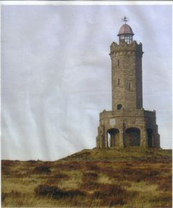 Darwen Tower overlooking the town of Darwen, Lancashire