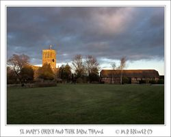 St. Mary's Church and Tithe Barn, Thame, Oxfordshire