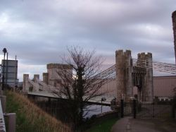 Telford's Suspension Bridge, just outside Conwy Castle