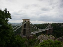 View of the Clifton Suspension Bridge. Clifton, Bristol, Somerset. Summer 2004