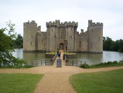 Front entrance to Bodiam Castle, East Sussex