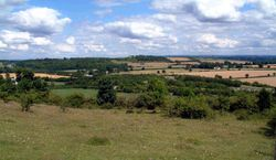 The landscape surounding Old Burghclere