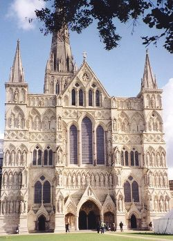 West Front entrance to Salisbury Cathedral